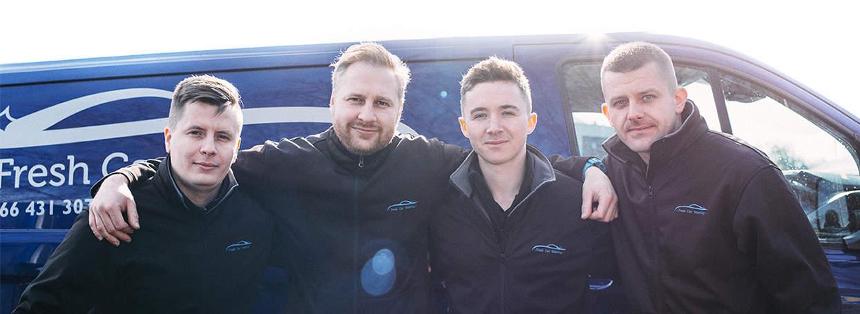The Fresh Car Valeting team