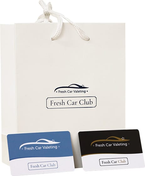 Fresh Car Club bag and membership cards