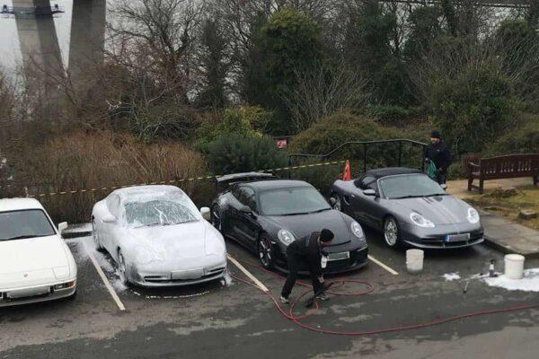 Four Porsches